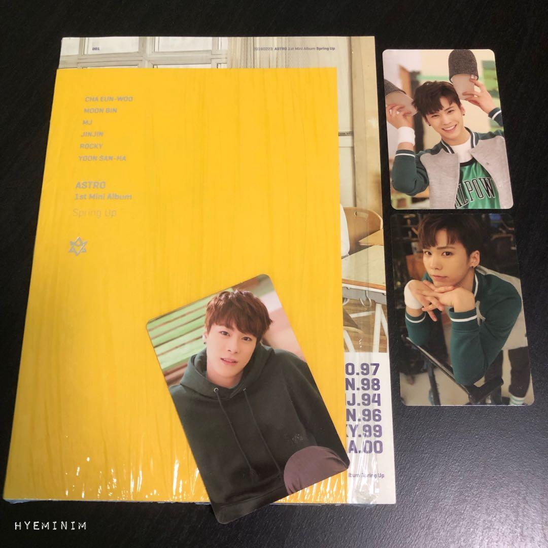ASTRO Spring Up Album + Rocky Full Set Photocards + Moonbin