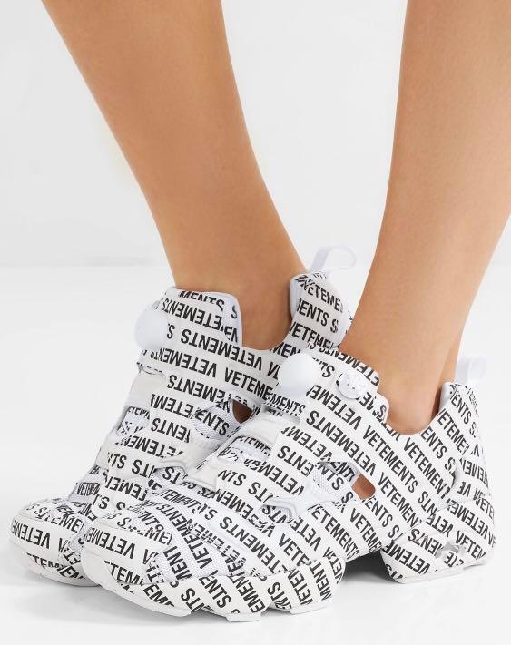 93484ce3bb01 AUTH Vetements x Reebok Instapump Fury Logo Sneakers balenciaga ...