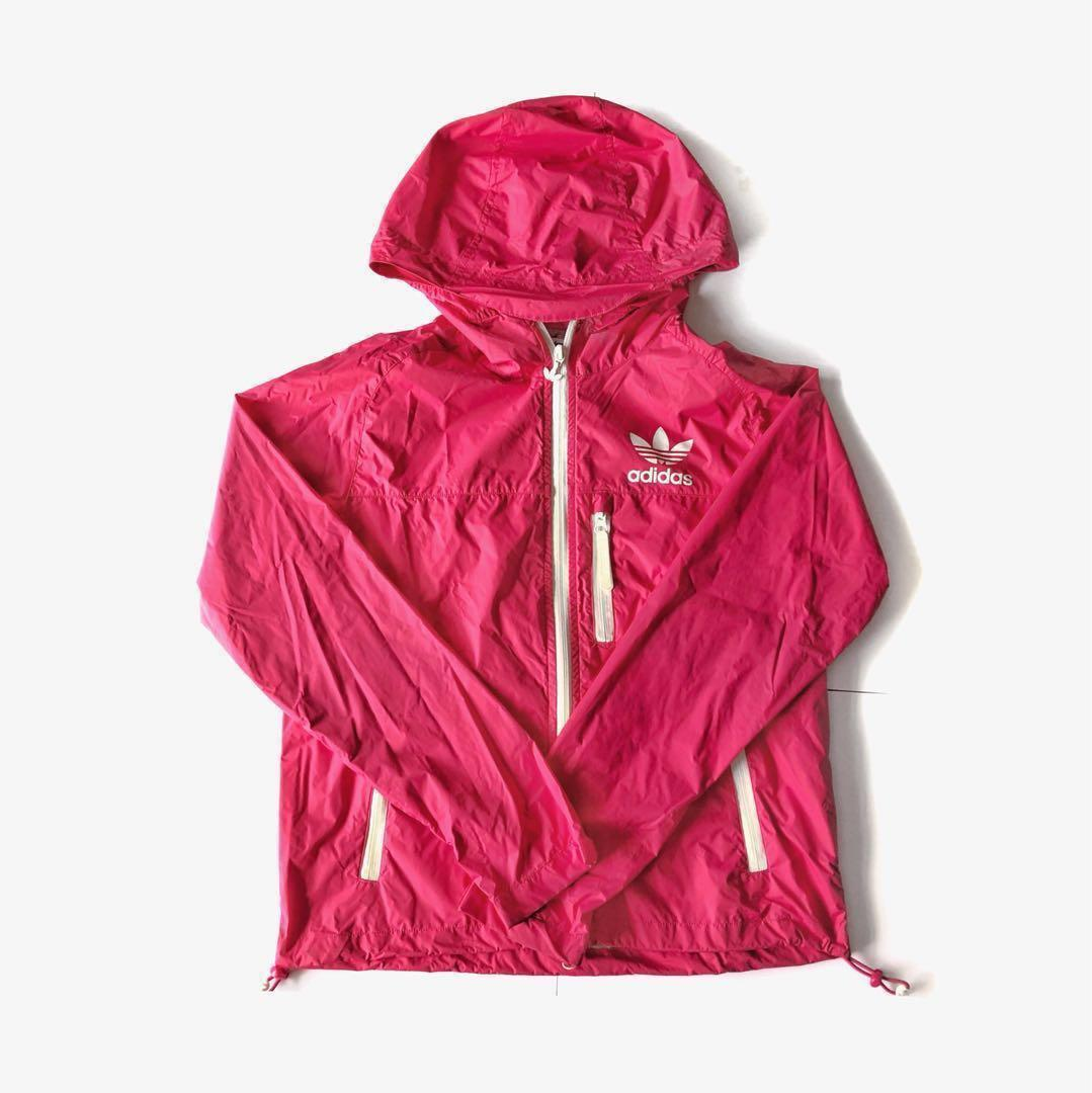 Authentic Adidas Neon Pink Jacket, Sports, Sports Apparel on