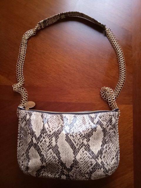 Authentic Stella McCARTNEY Snake Skin Design Shoulder Bag 6e1f2b538c07d