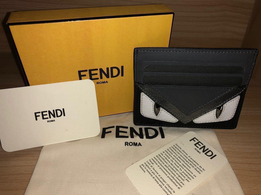 Authentic)Fendi Bag Bugs Card Holder, Men's Fashion, Bags