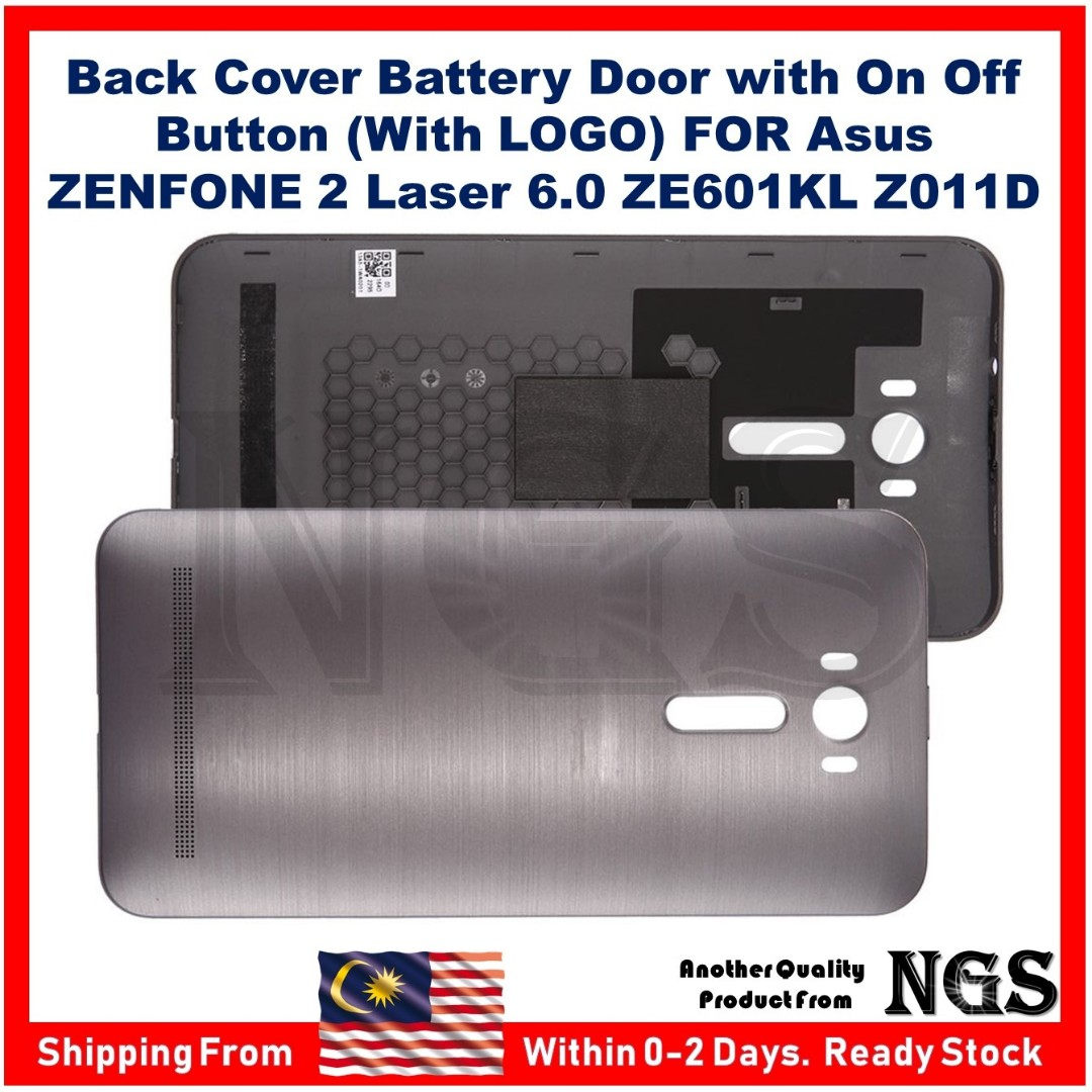 the best attitude b4cbc a1258 Back Cover Battery Door with On Off Button (With LOGO) FOR Asus ZenFone 2  Laser 6.0 ZE601KL Z011D