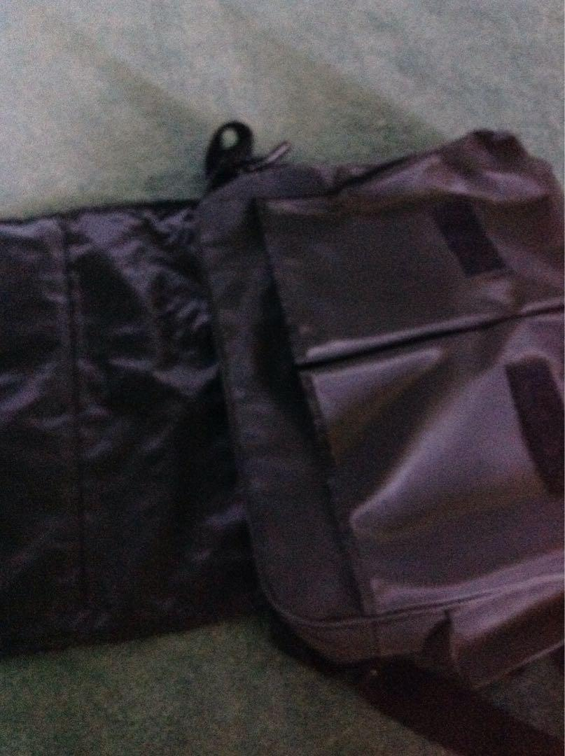 Bag/Satchel. Useful as Uni satchel. Heaps of compartments. Used. Very good condition. $35. Thick polyester material / faux leather.