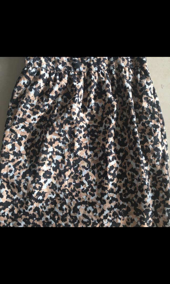 BCBG Generation black white and pink speckle dress with back detail