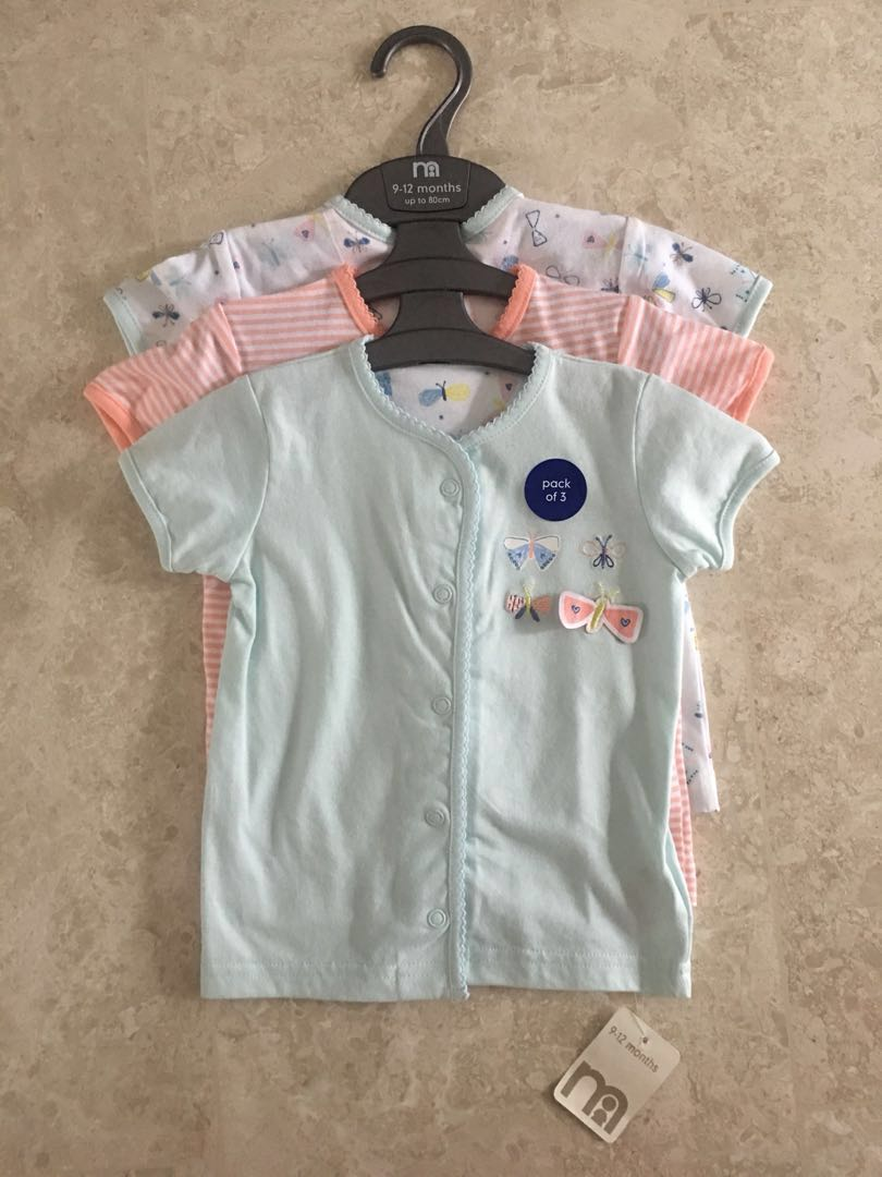 1085c6be478a BN 9-12M Mothercare Girls Butterfly Tops