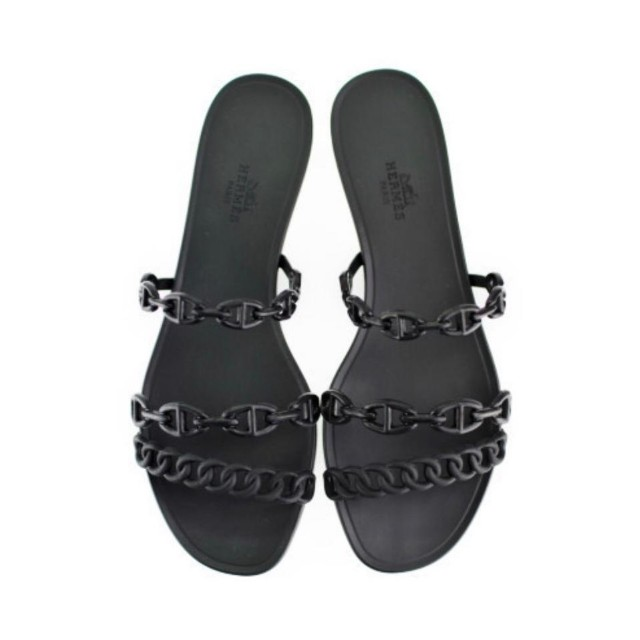 7bffe294b Brand New Authentic Hermes Rivage Sandals in Black Size 38