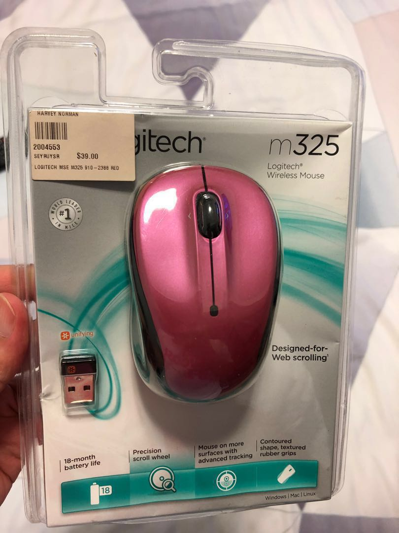 9b14aa91715 Brand new Logitech wireless mouse M325 for sale! Pink black ...