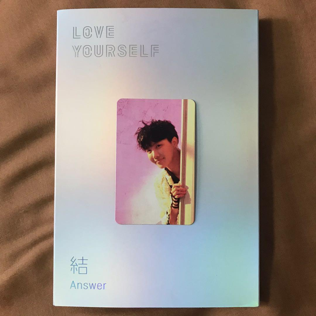 Bts Love Yourself 結 Answer E Version J Hope Photocard