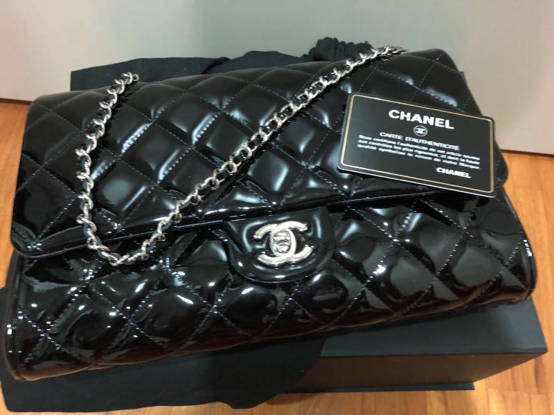 6ced1d9cee5d Chanel Patent Clutch on chain