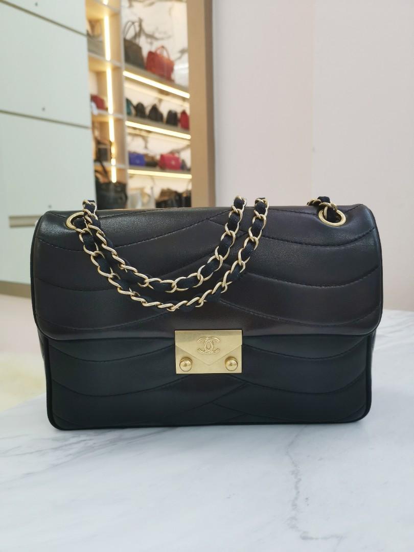b8b754b8c361 SOLD Chanel seasonal flap bag in lambskin
