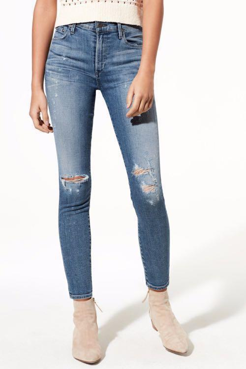 Citizens of Humanity 'Rocket' Dark Wash Denim: Distressed Fizzle (Size: 24)