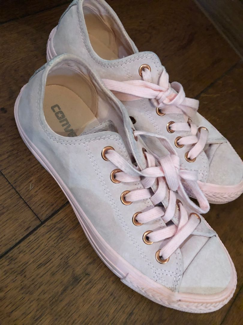 47c26d9d97c0 Converse Chuck Taylor All Star Suede Low Top in Pink Vapour Rose ...