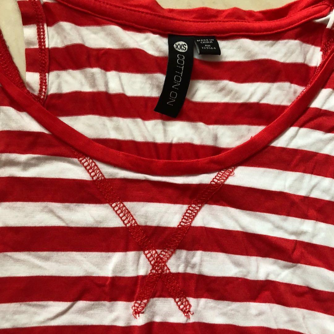 Cotton On Red Stripe Tank Top