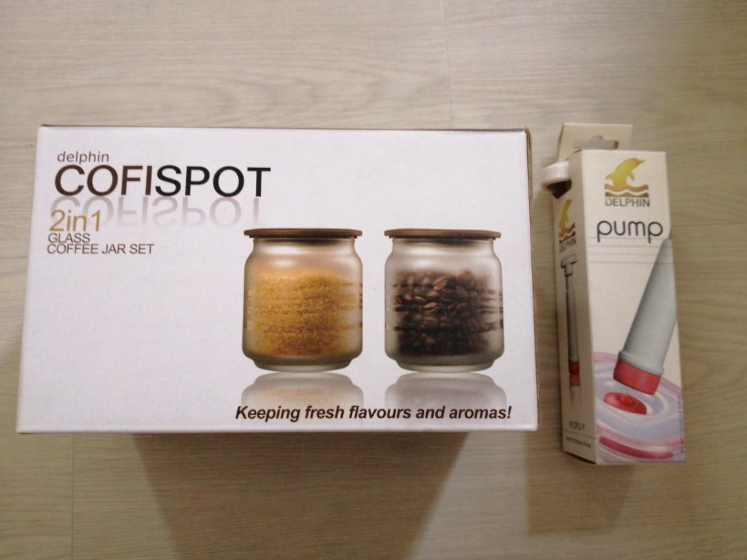 Delphin Cofispot 2-in-1 Coffee Jar Set