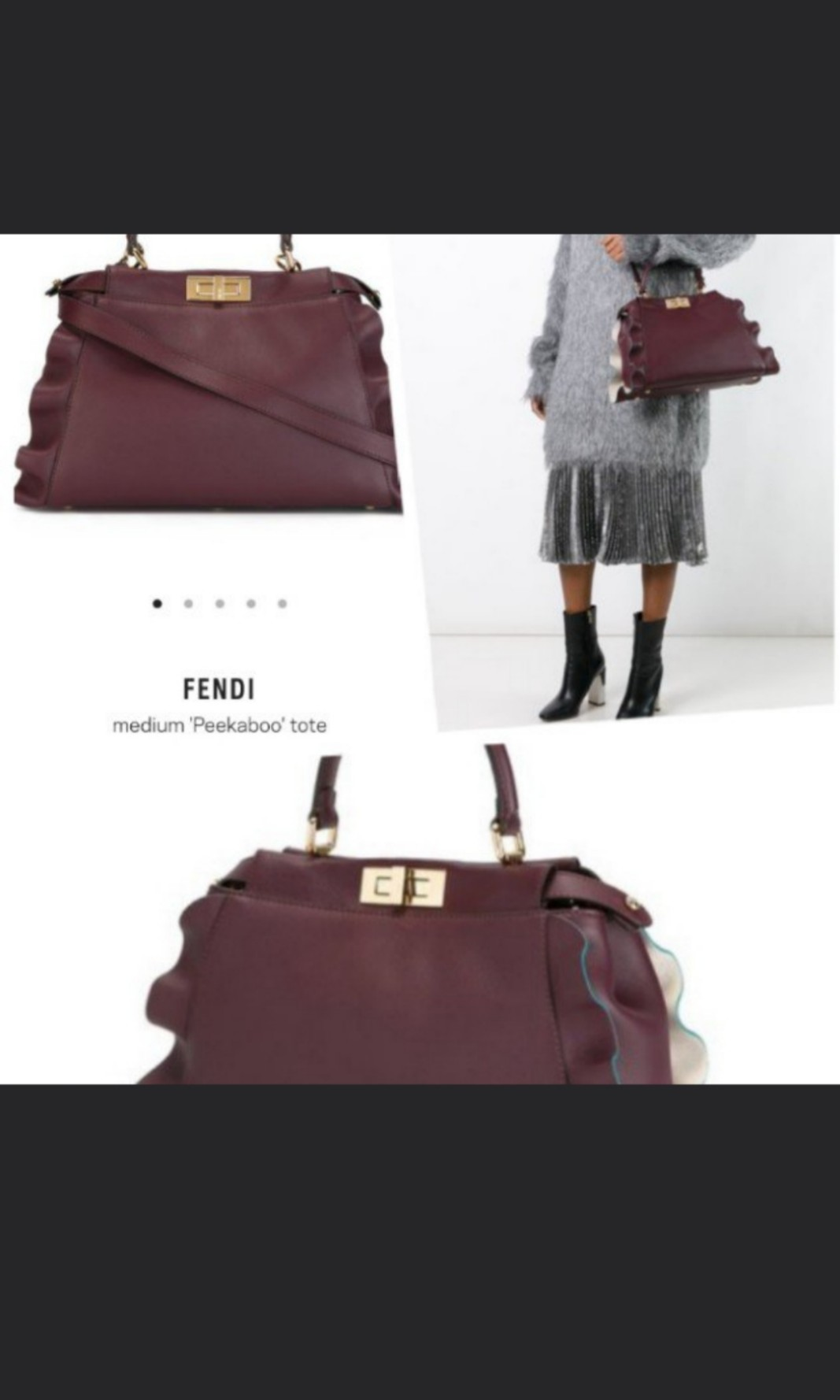 a25f3f009201 Fendi peekaboo leather tote bag