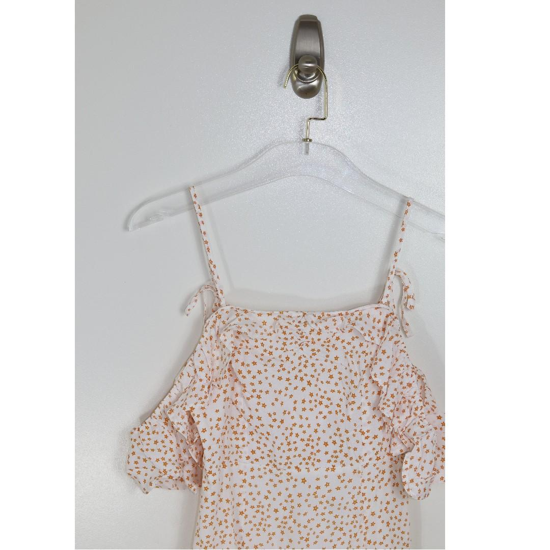 For Love and Lemons Dress 'Aurora Ruffle' Dress Women's Size Small NWTS