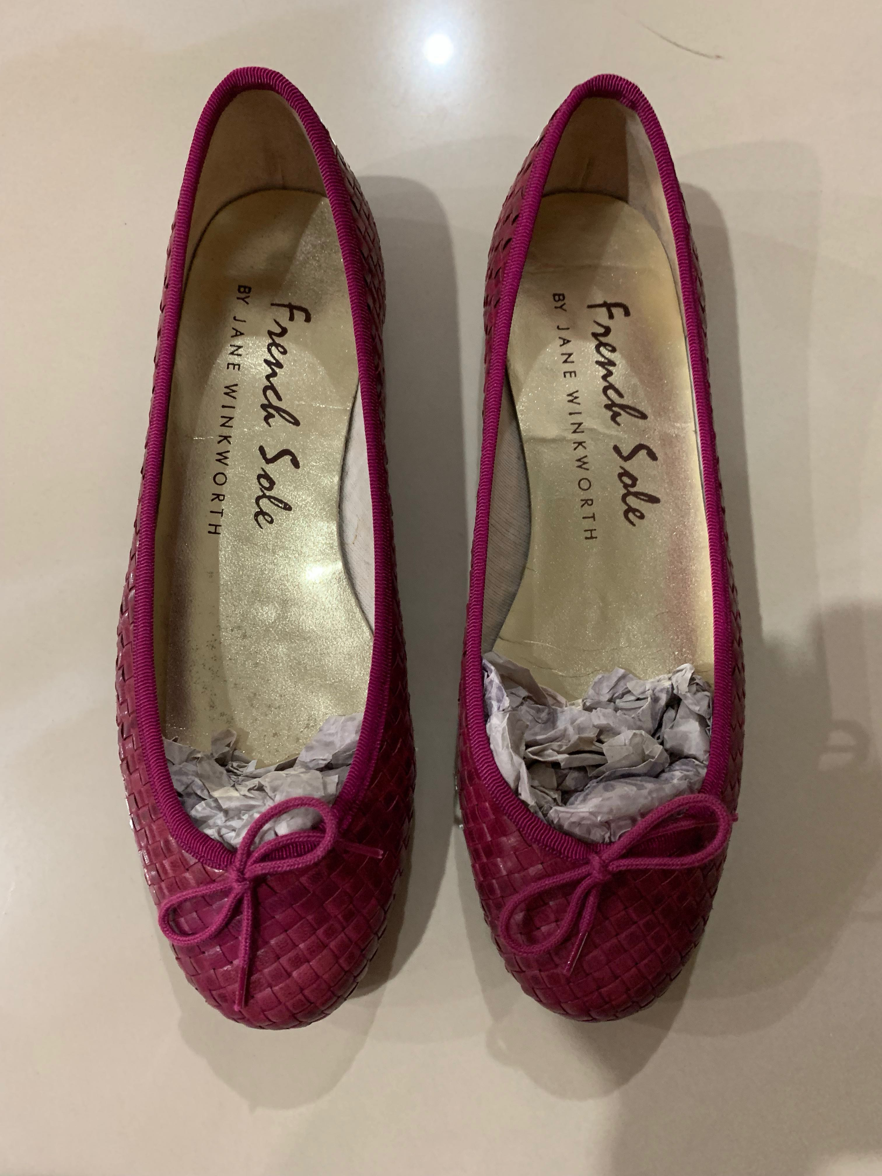 French Sole Ballerina Flats (Size 38)
