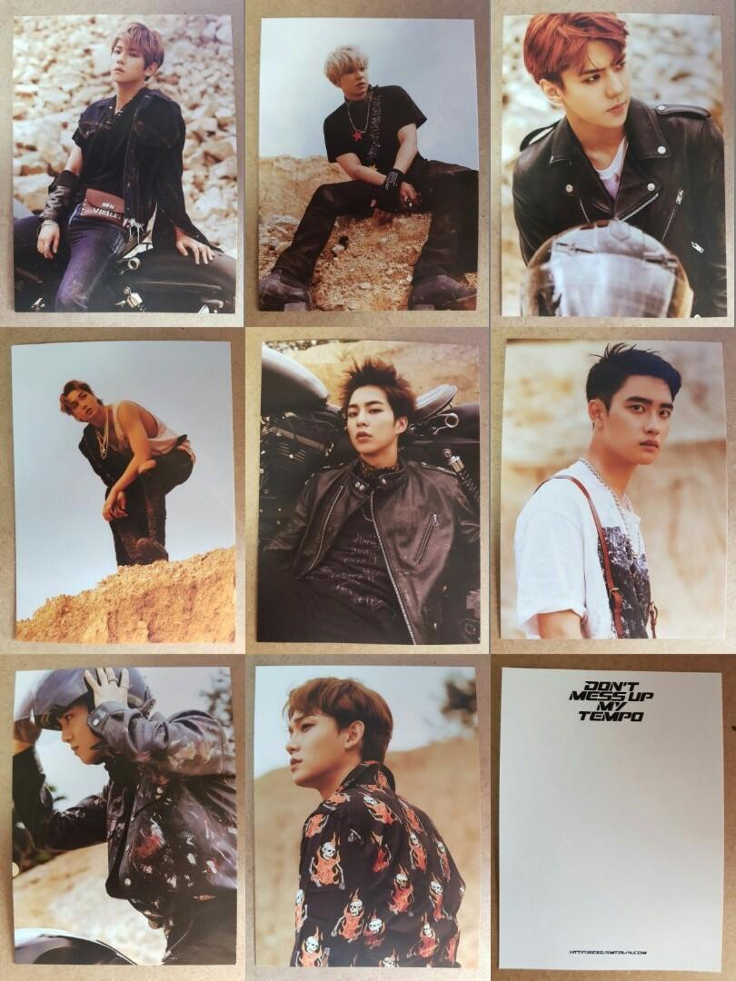 GROUP ORDER - EXO DON'T MESS UP MY TEMPO POSTCARD INTERNATIONAL VER