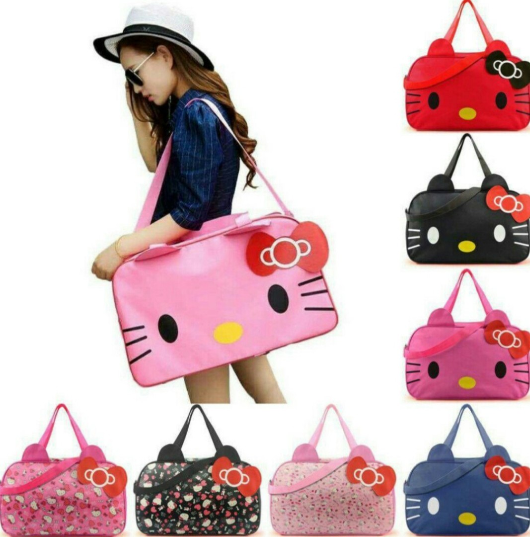 9e1bfa987 Hello Kitty Big Size Travel Bag (water resistant), Women's Fashion ...