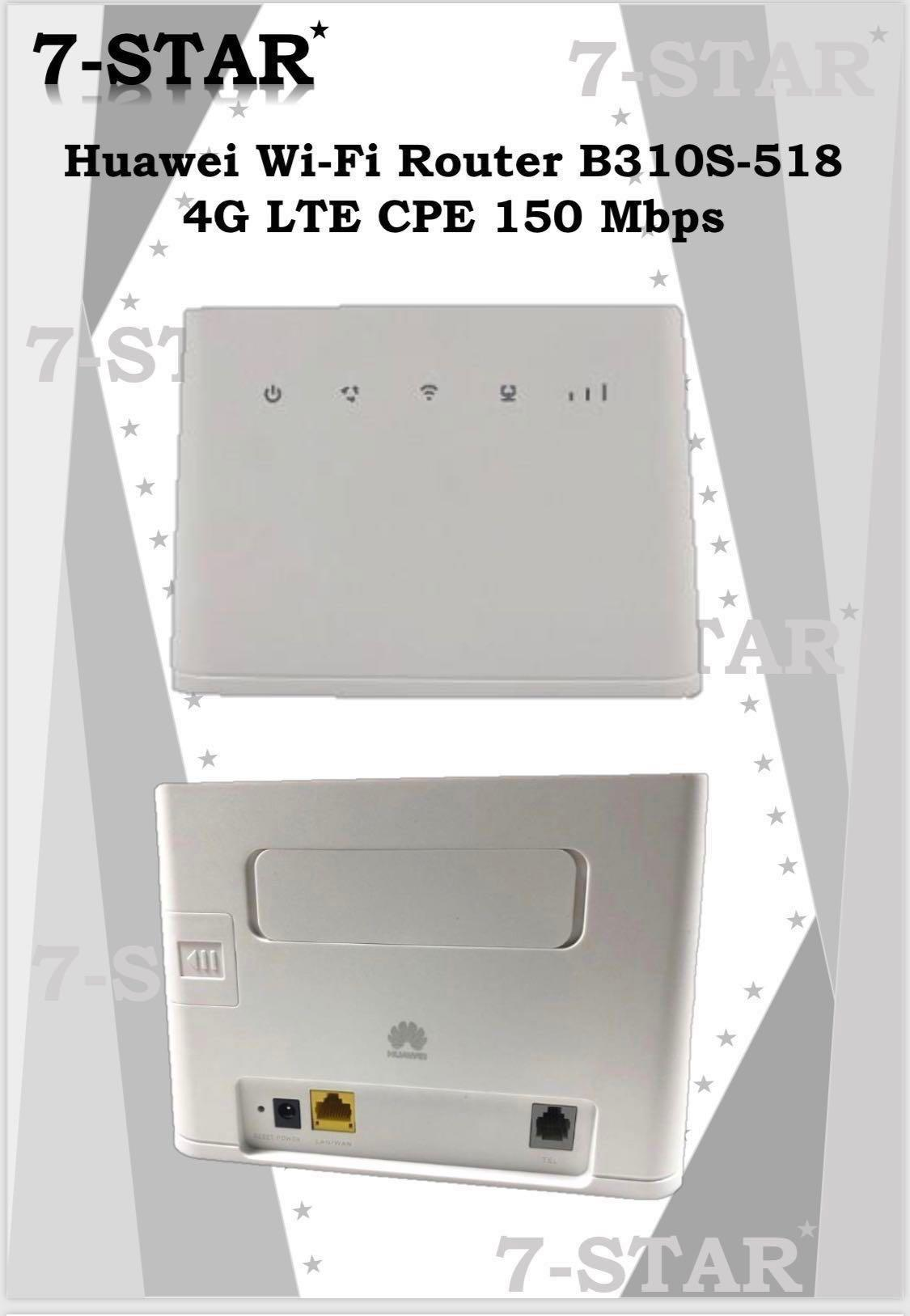 Huawei High Speed Wireless 3G/4G Sim Card Wifi Router B310