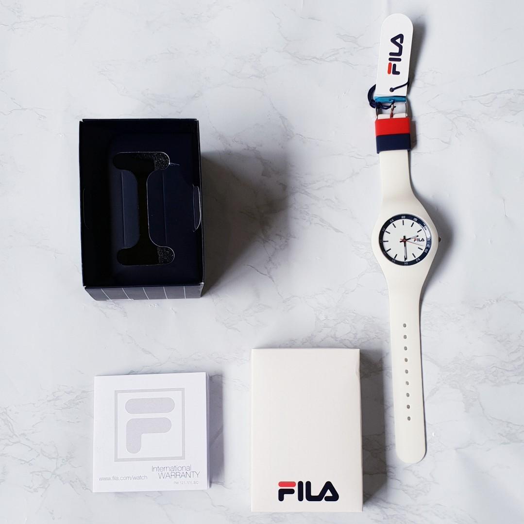 INSTOCK FILA White Watch with silicone rubber strap 1a0a2f5c8