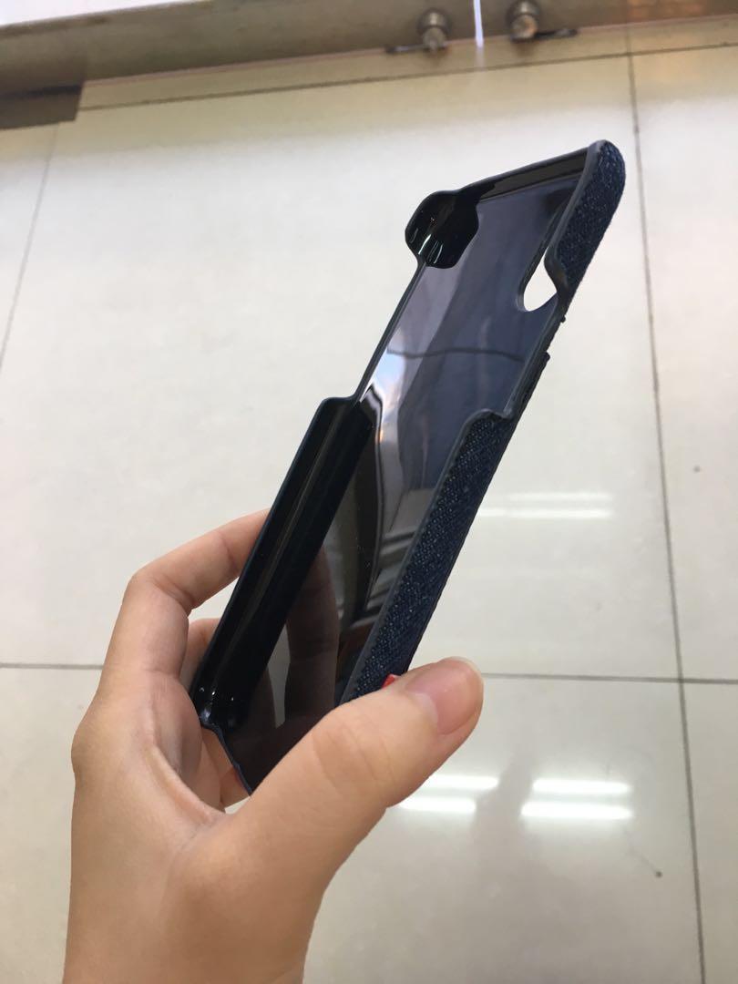 iPhoneX 手機殼 單寧 全新轉售 有外盒