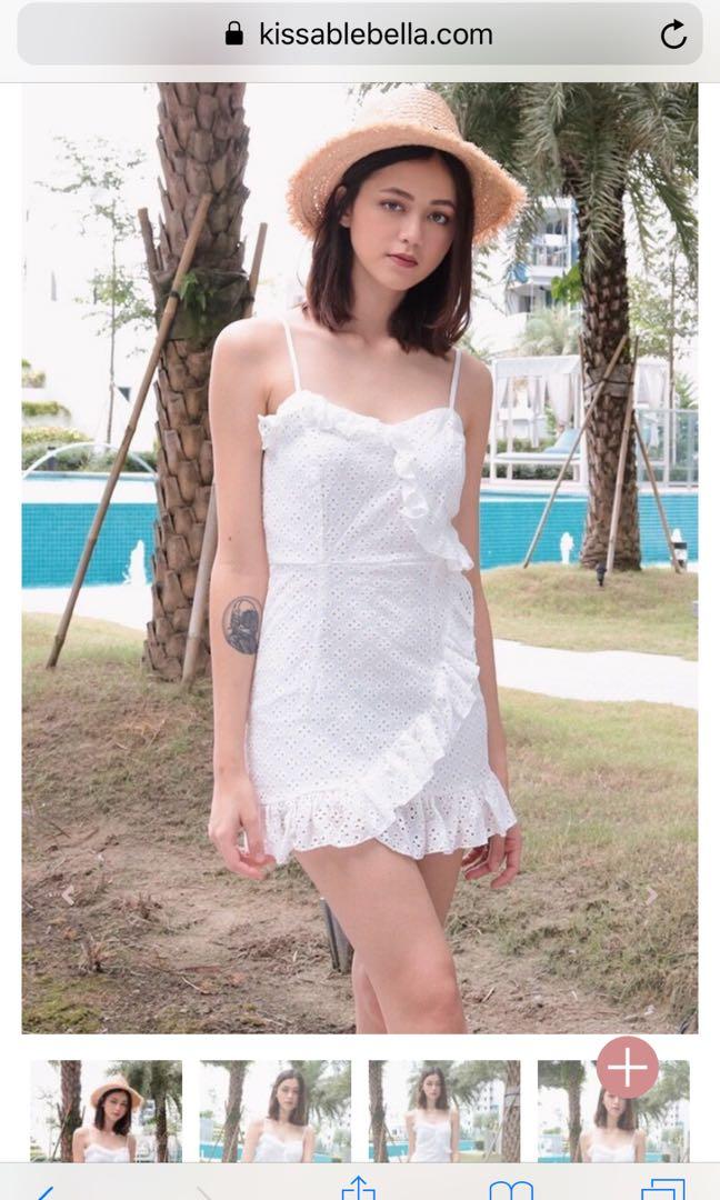 073cbab4845 Kissablebella RUFFLE CHARMED EYELET DRESS (WHITE)