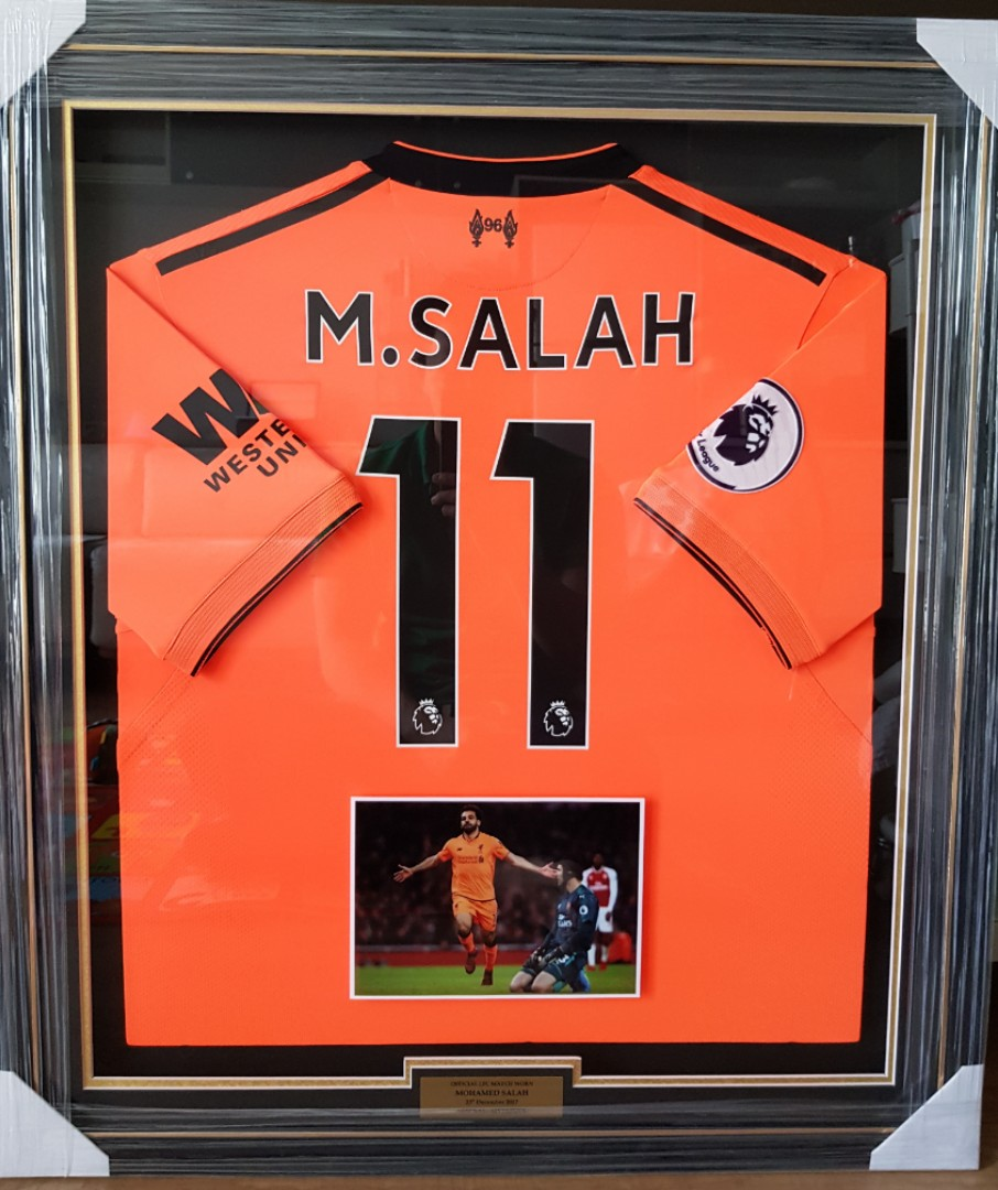 check out b5e8c 56a69 Liverpool Mohamed Salah Match Worn Jersey