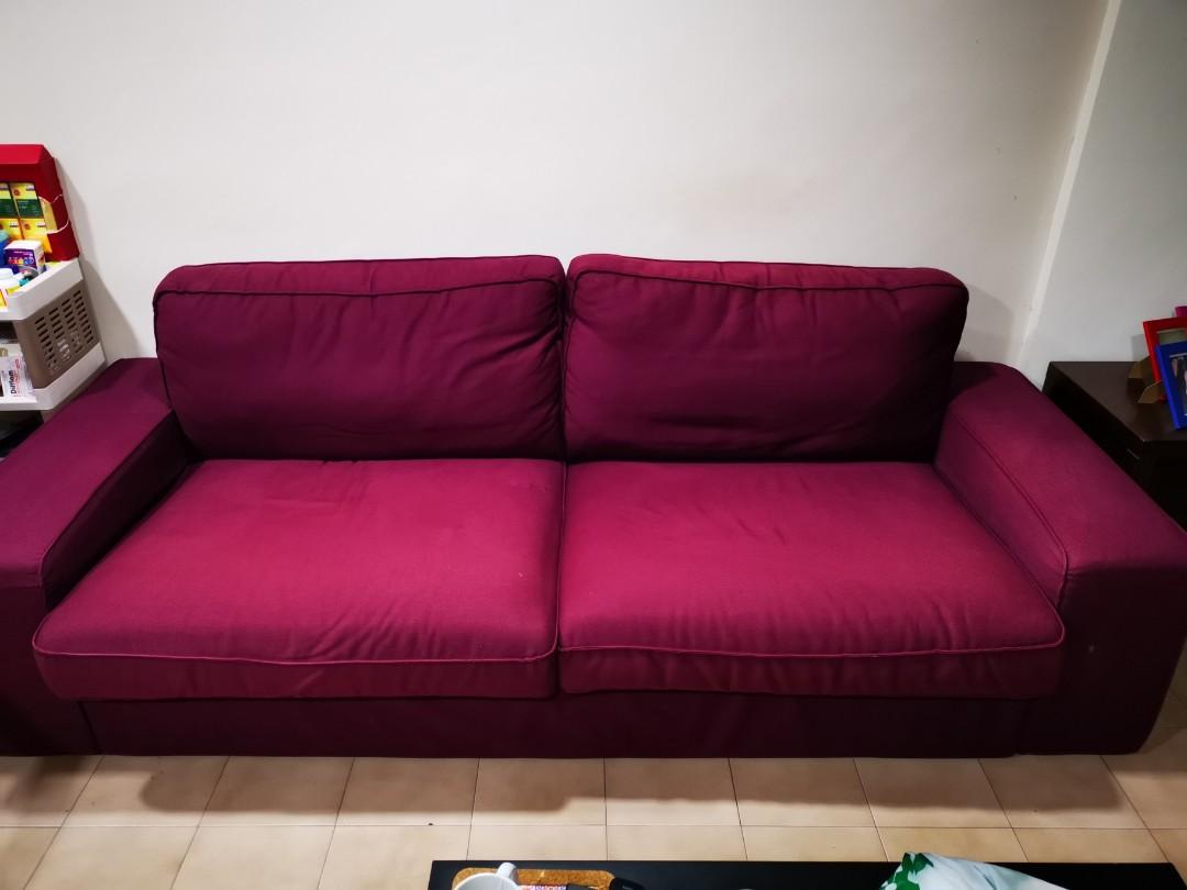 Maroon Sofa For Sale Furniture Sofas On Carousell