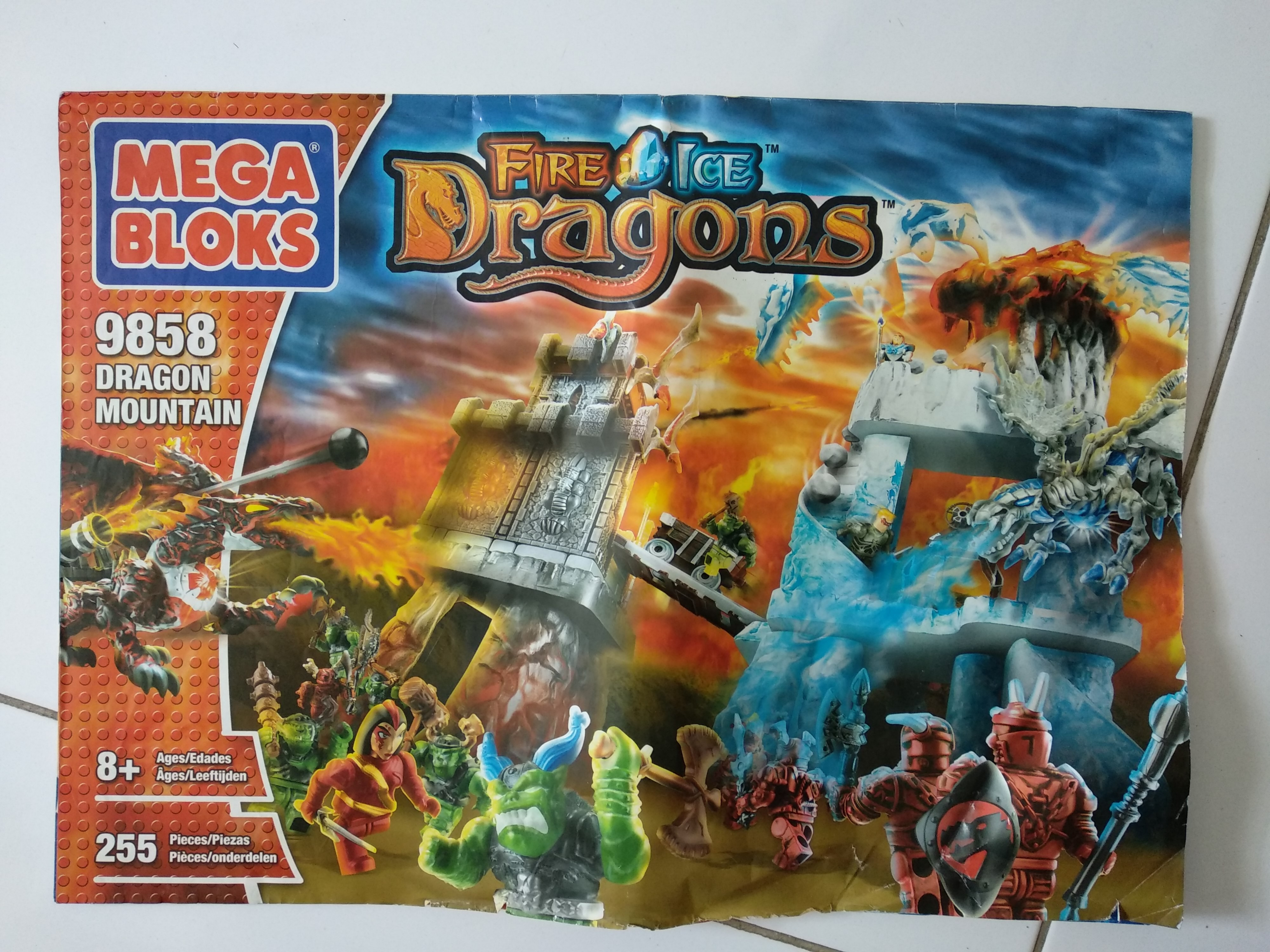 Megabloks Fire & Ice Dragons -Dragon Mountain, Toys & Games