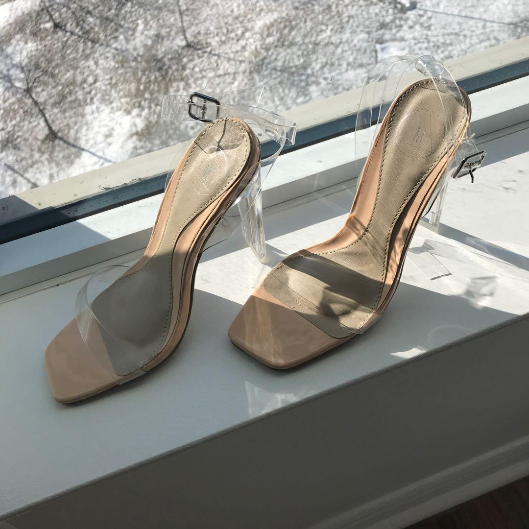 Missguided clear heels