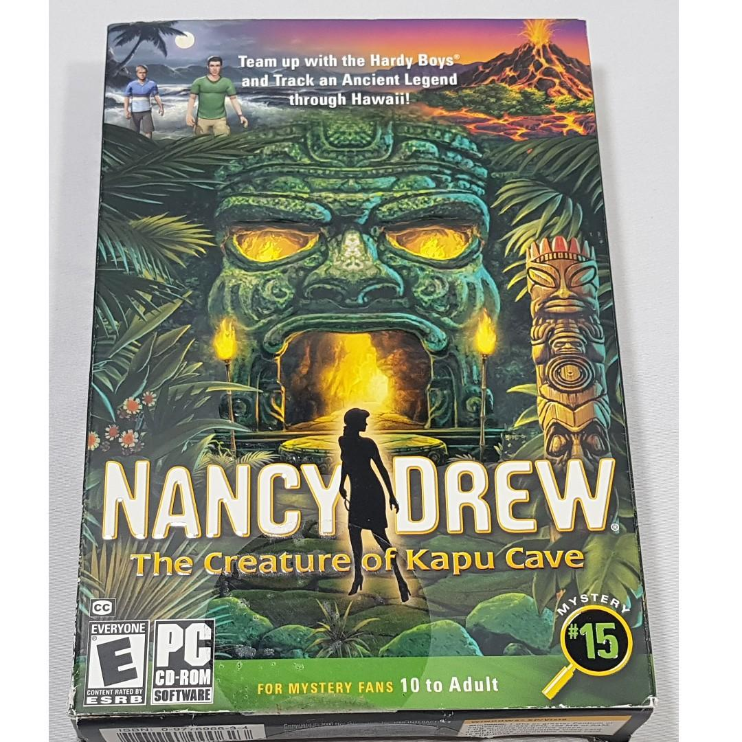 NANCY DREW THE CREATURE OF KAPU CAVE PC SOFTWARE AGES 10 TO ADULT NEW