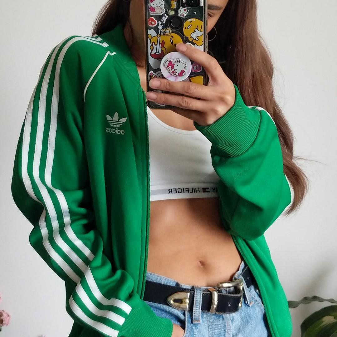 NEW Adidas Oversized Track Jacket with Custom Illustration