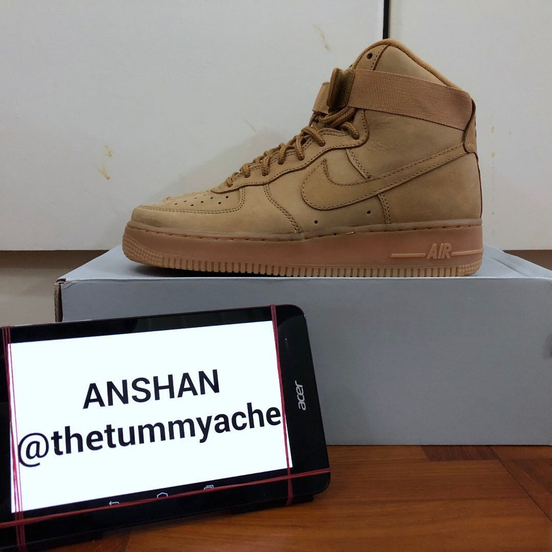 online retailer e7c0a dd2e0 Nike Air Force 1 High Flax