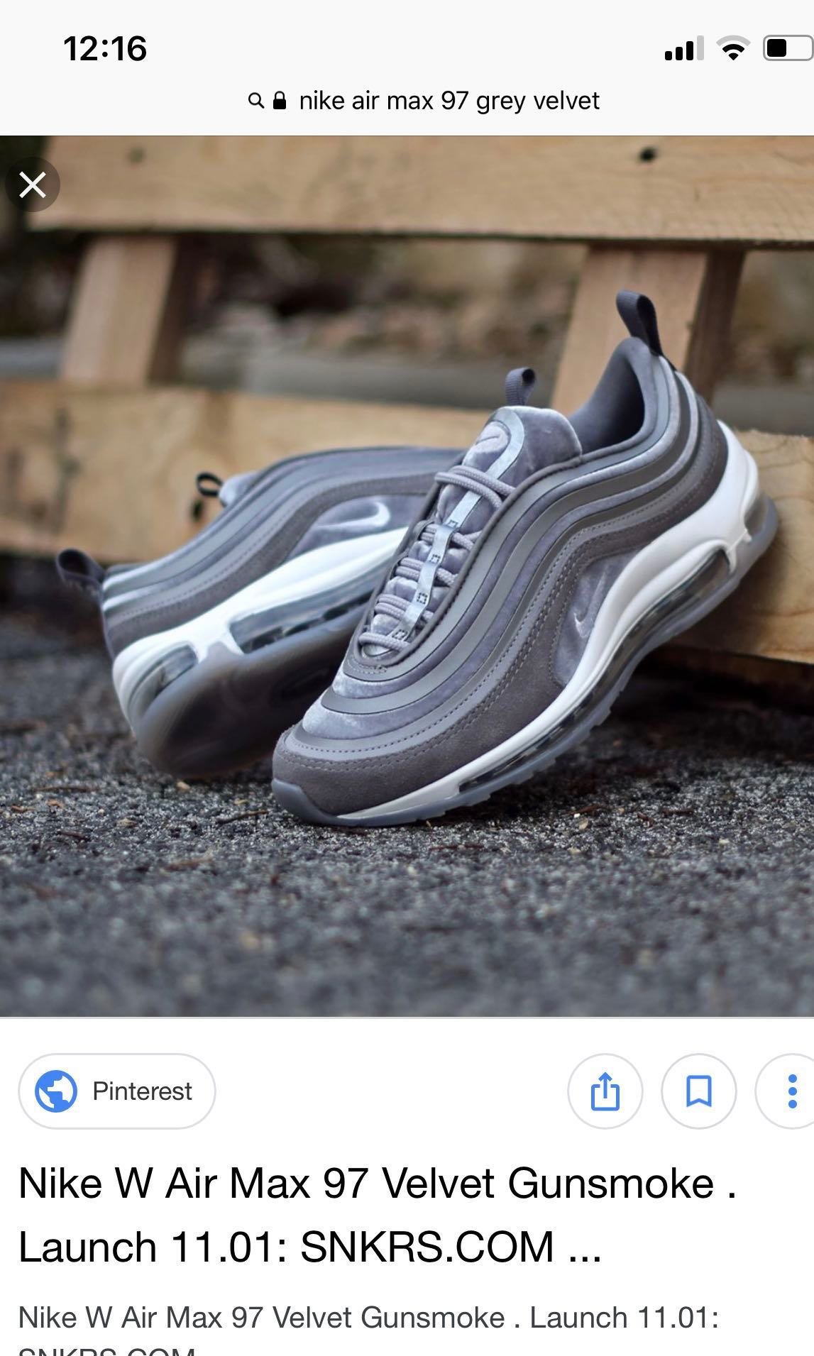 84be2ce675 Nike AirMax 97 ultra '17 velvet trainers in grey UK 5, Women's Fashion,  Shoes, Sneakers on Carousell
