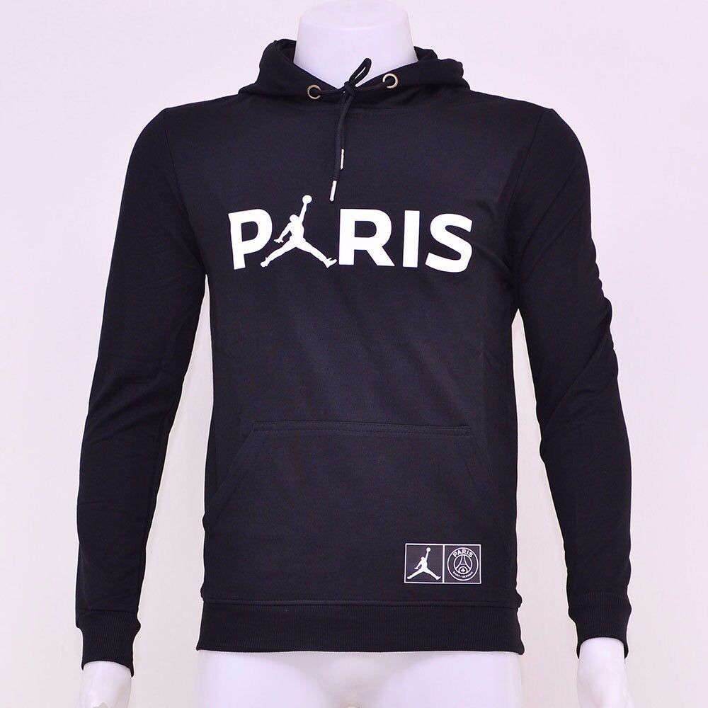 63f0b08767d NIKE X Paris Saint-Germain X AIR JORDAN Jumpman Pullover Hoodie ...