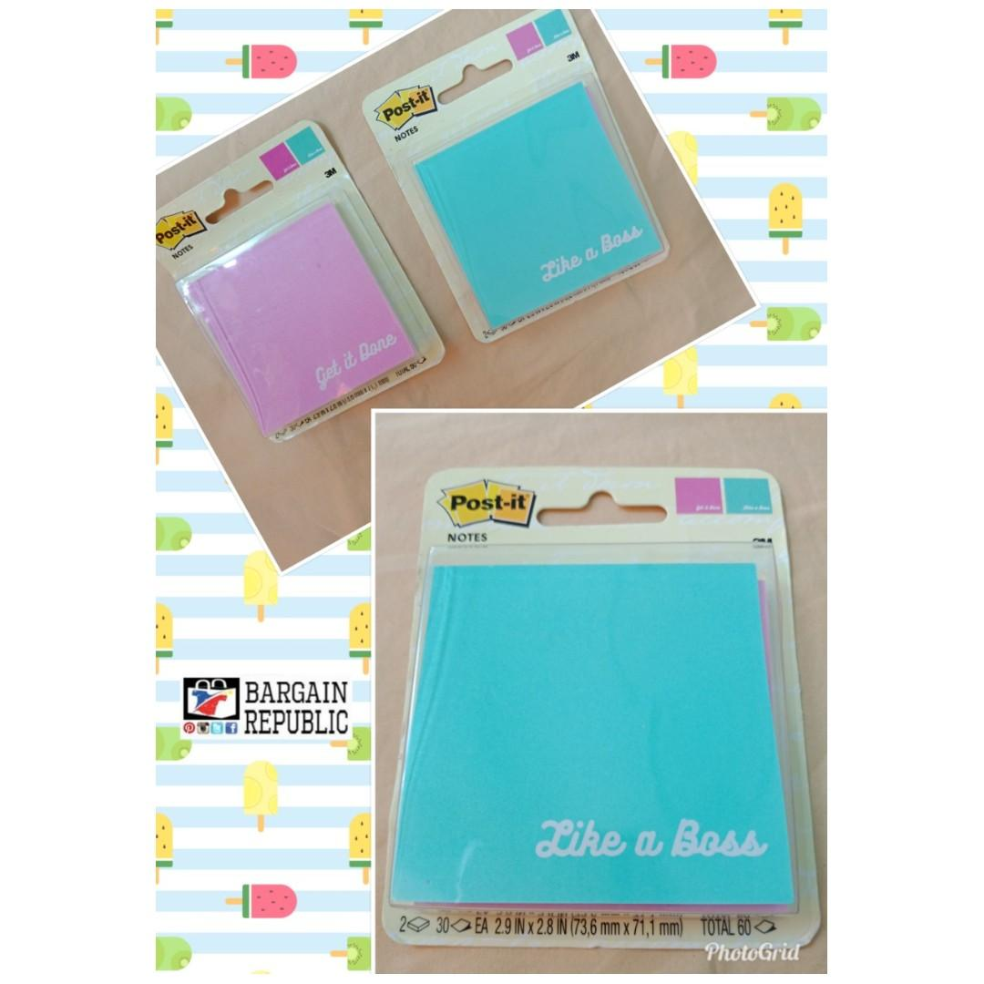 Post-it Sticky Note Pastel Original Notes Refresh Assorted Set of 2