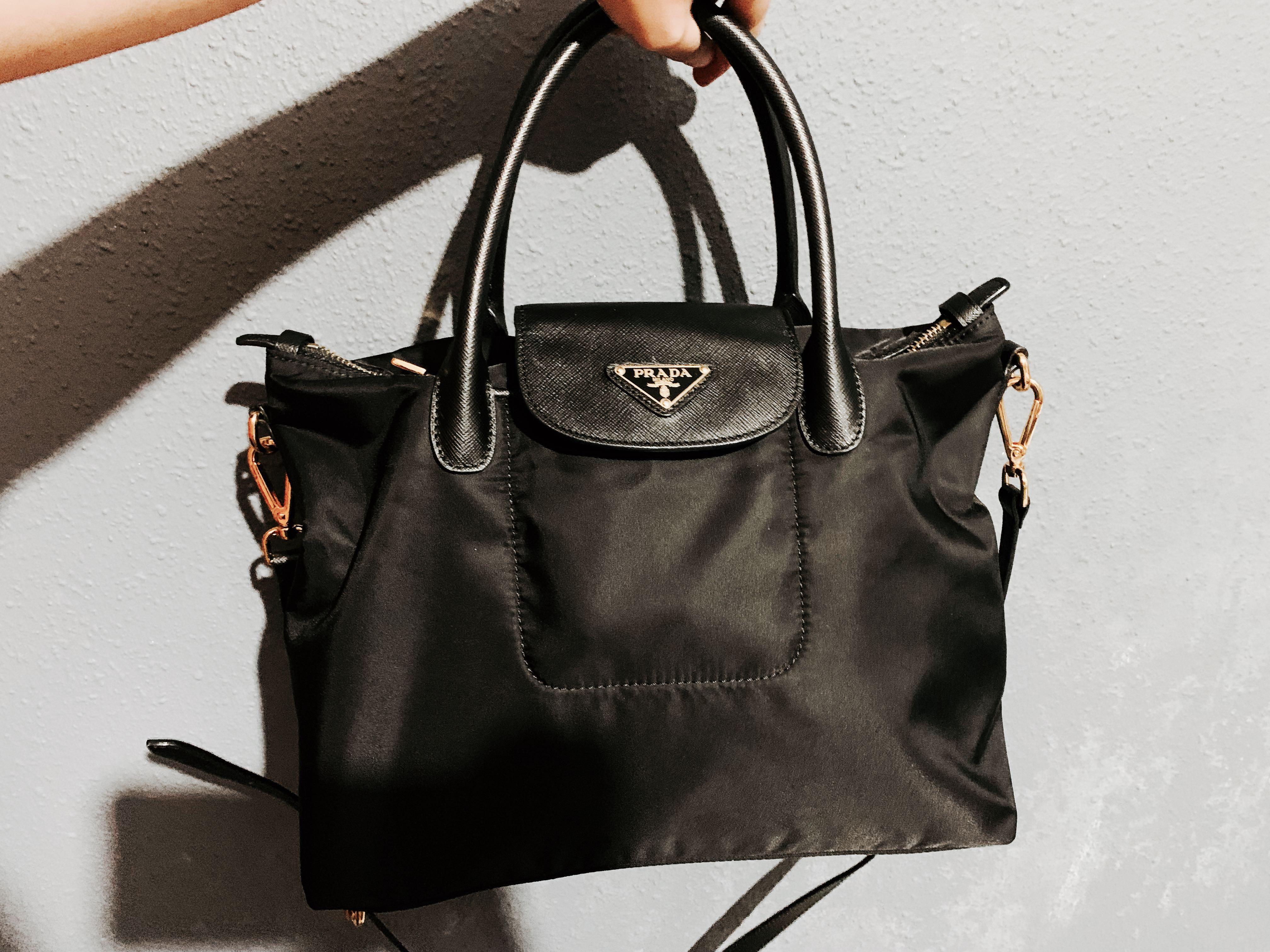 8208d0e592c2 Prada Tessuto Nylon Shopping bag