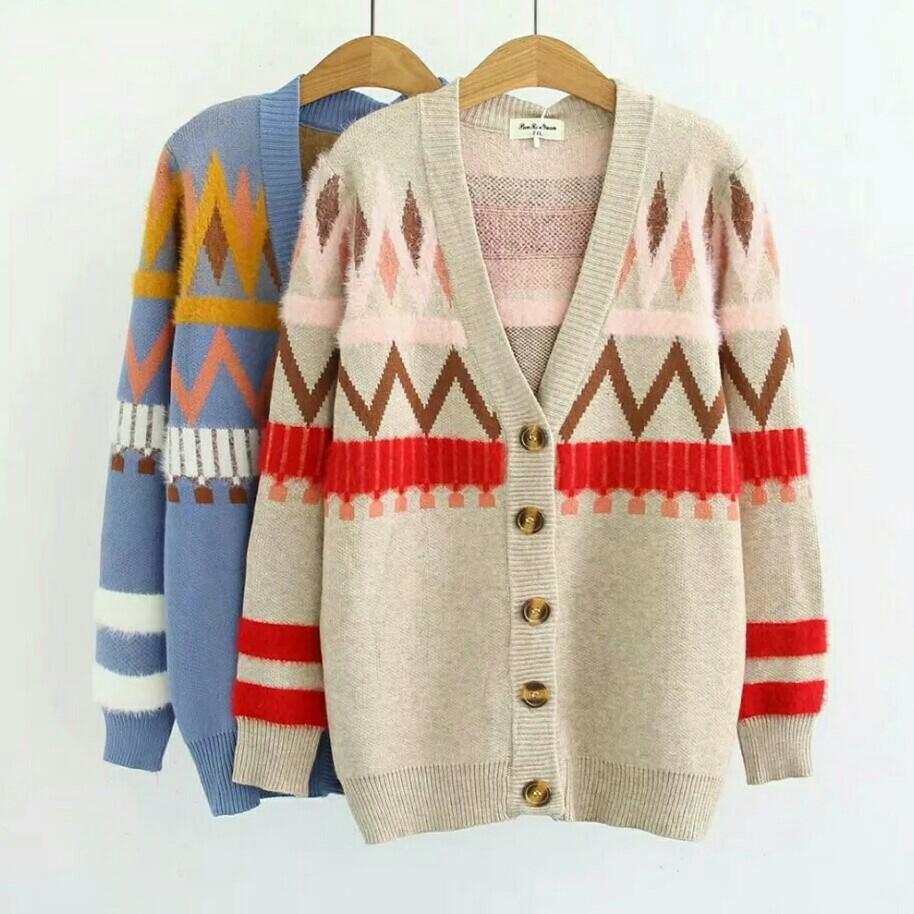 06ff8fff58 Pre-Order  Autumn Winter Women Cardigan Coat Long Sleeve Knitted ...