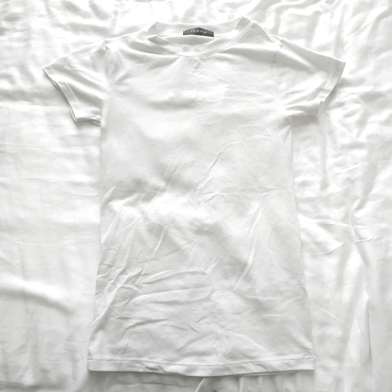 9487e9ffce349 Primark Crew  Round Neck White Tee  T-Shirt  MakeSpaceForLove ...
