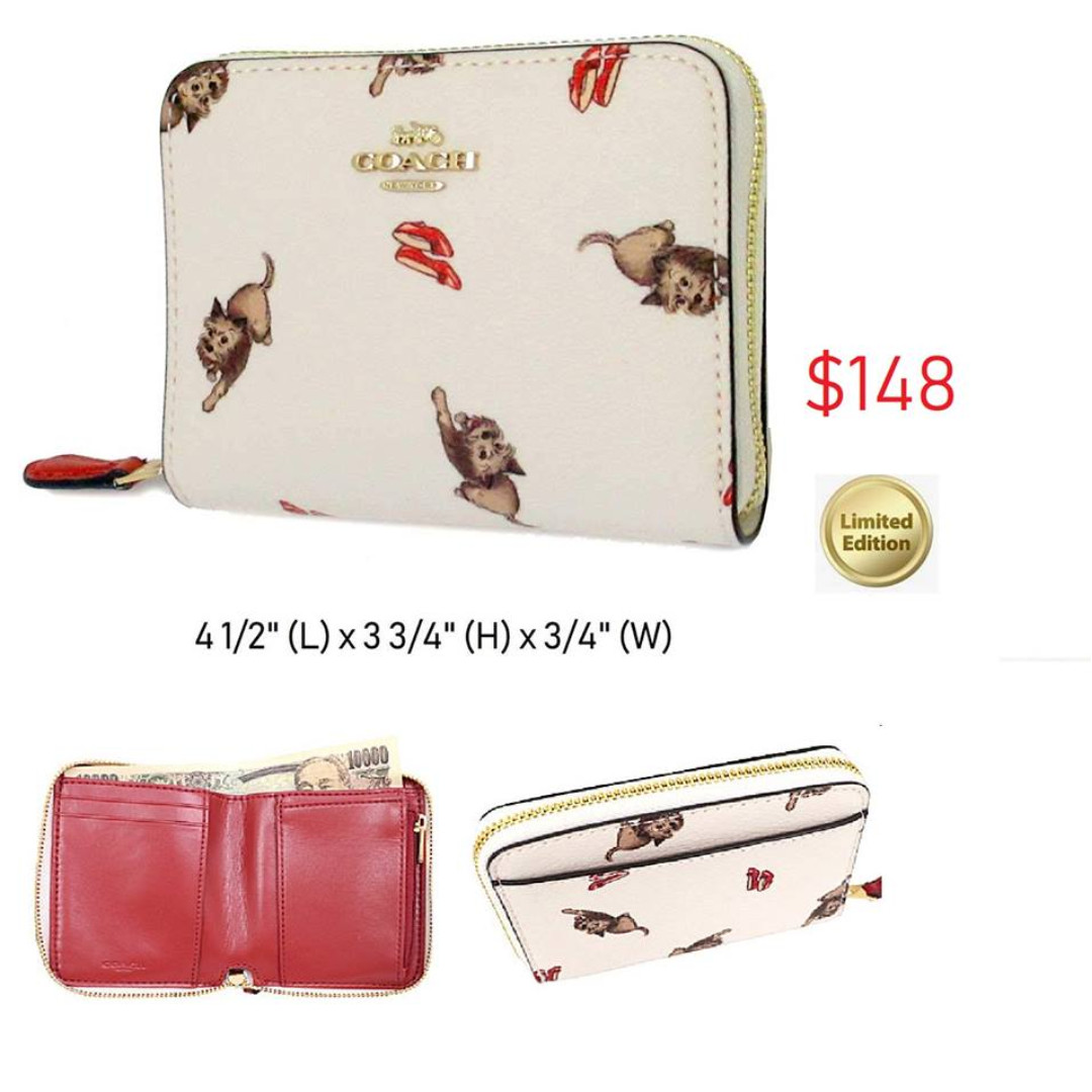 7250143436e137 READY STOCK authentic new Coach SMALL ZIP AROUND WALLET WITH WIZARD ...