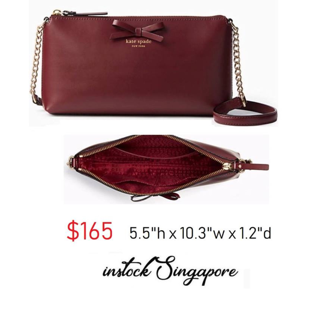 2020 info for best selection of READY STOCK authentic new Kate Spade Sawyer Street Declan Classic Leather  Crossbody Bag Purse