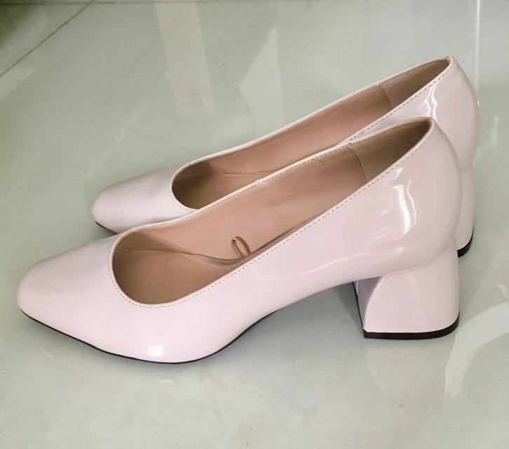 66c557035ce REPRICED! Zara Nude Pink Block Heels