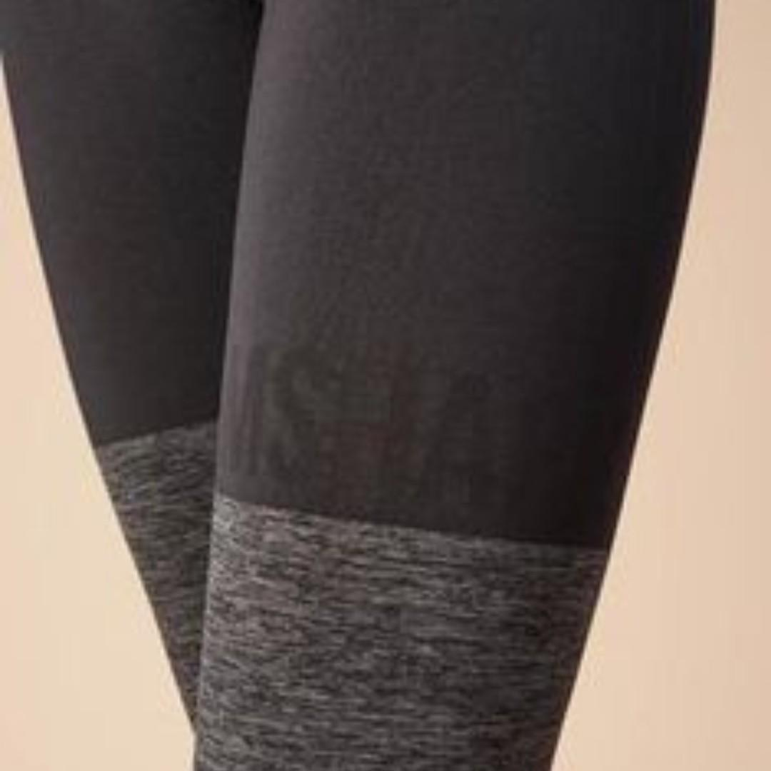 Small Gymshark Two Tone Seamless Leggings - Black/Grey