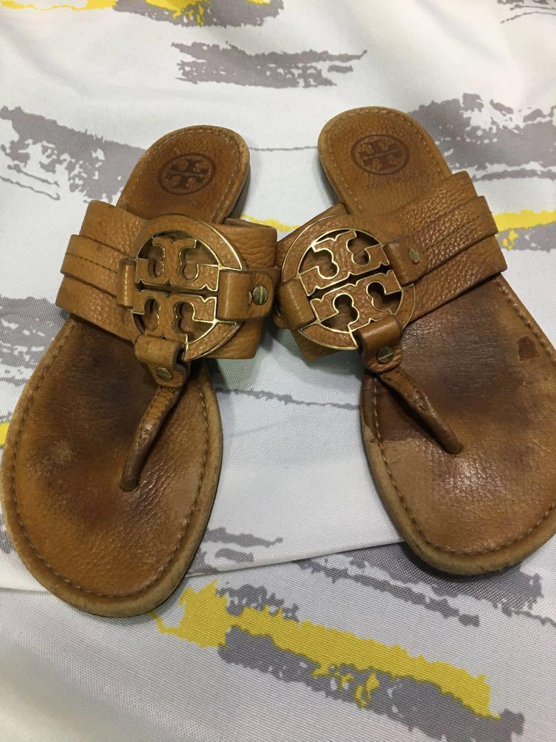12e886ef5d79 Tory Burch Amanda and Square Miller thong sandals bundle