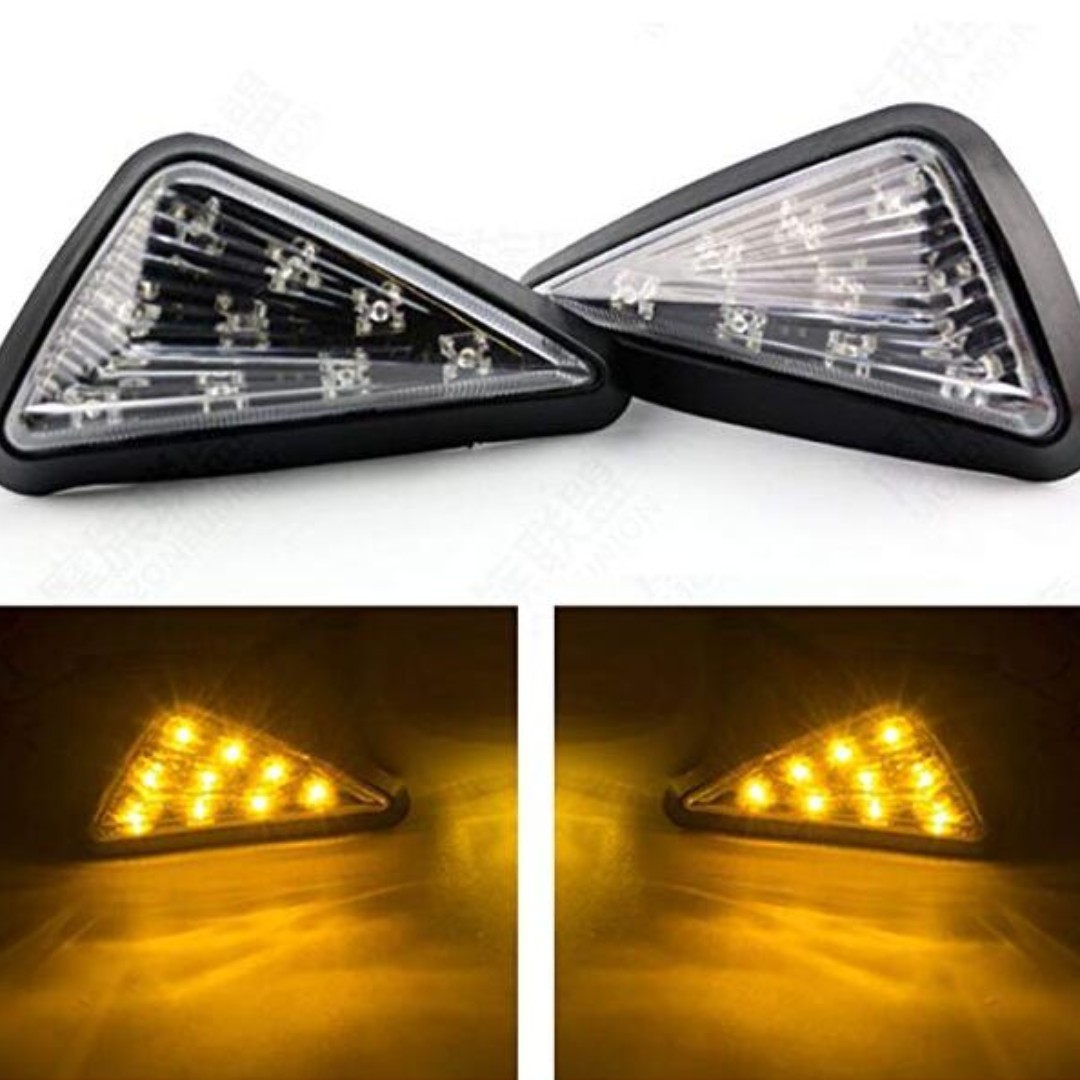 Triangle Flush LED Motorcycle Turn Signals Blinkers