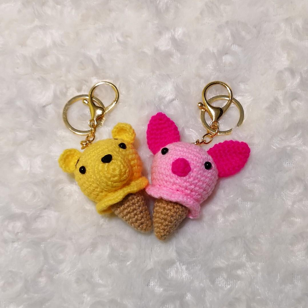 Crochet cat keychain. Amigurumi keyring. Animal bag charm. Kitten ... | 1080x1078