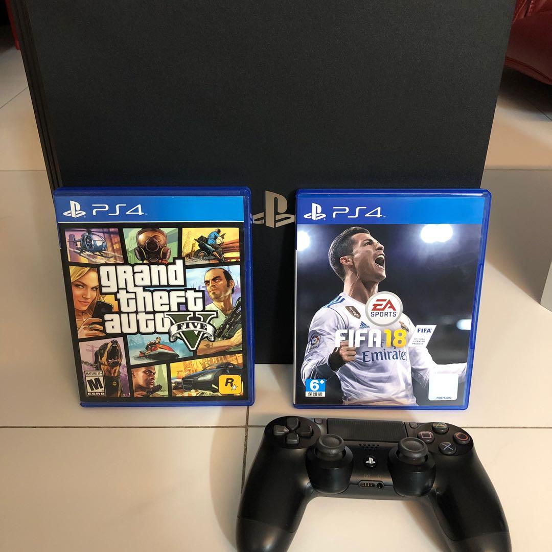 WTS- PS4 Pro 1TB + GTA V + Fifa 18