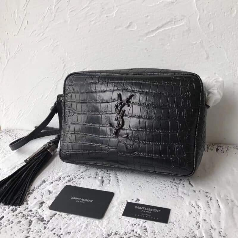 448a0620b7 YSL croc embossed lou camera bag on Carousell