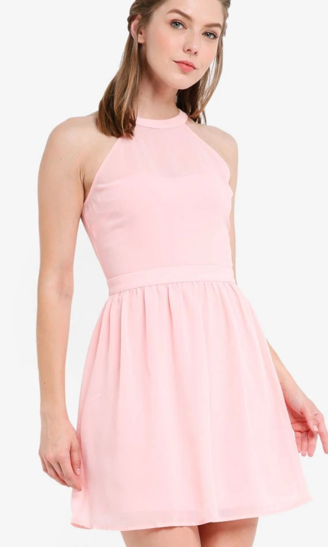 86caeabfdfbc28 Zalora Pink Halter Dress XL L 12 14 40 42